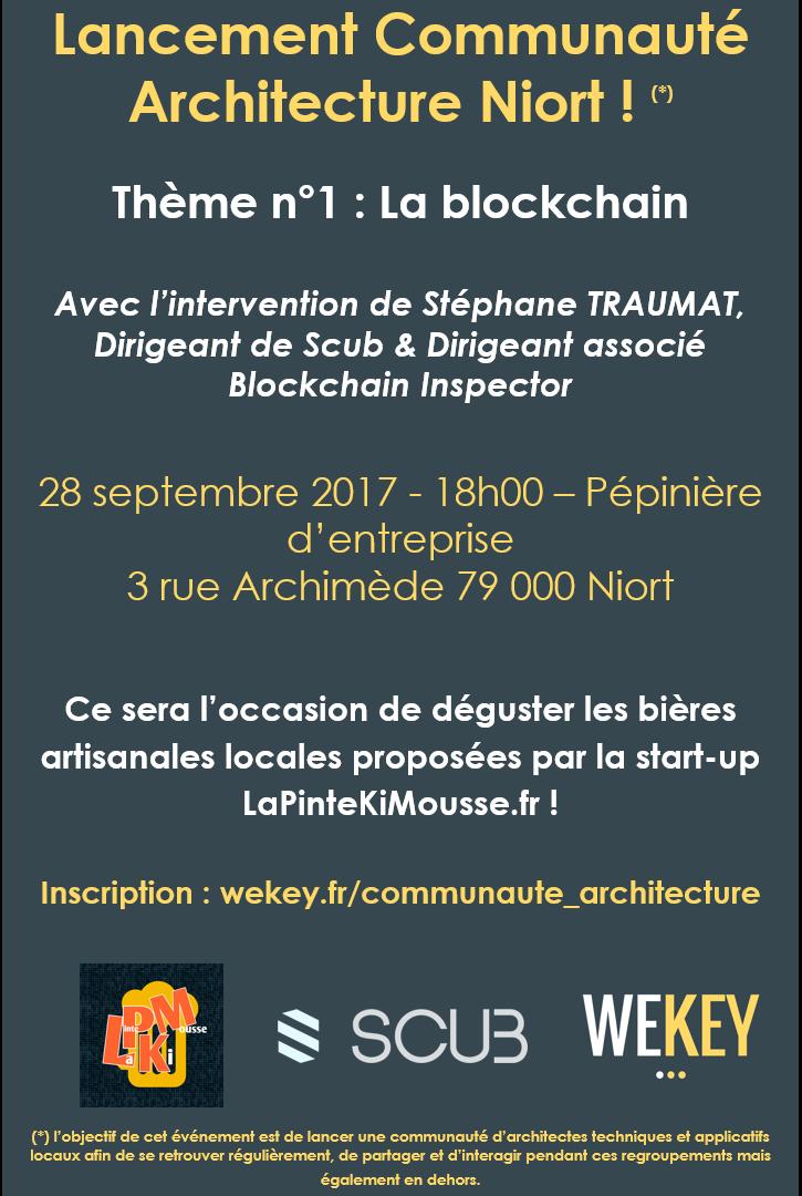 Lancement Communauté Architecture Niort