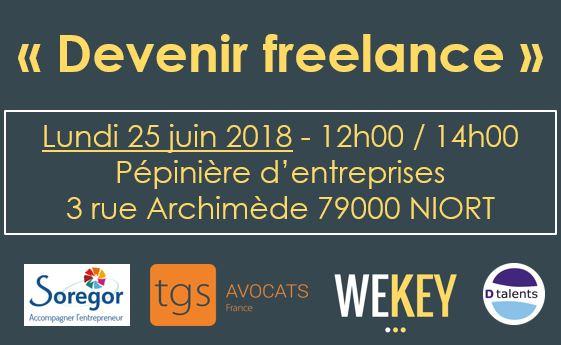 Passer freelance, comment faire ? RDV le 25 juin 2018