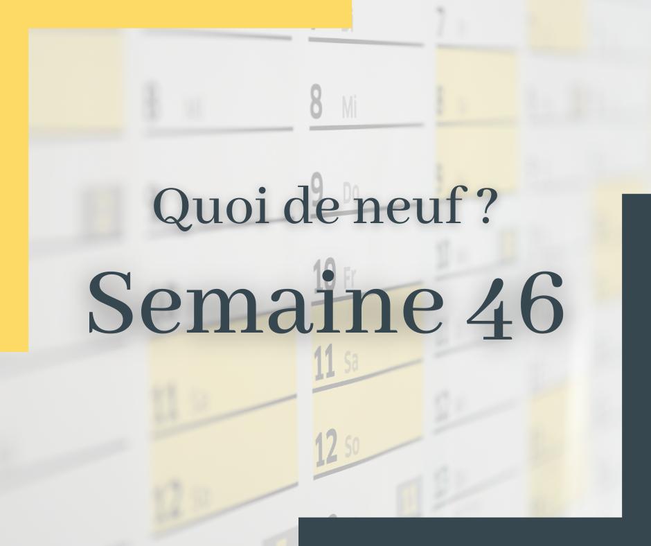 Blog Wekey - Semaine 47