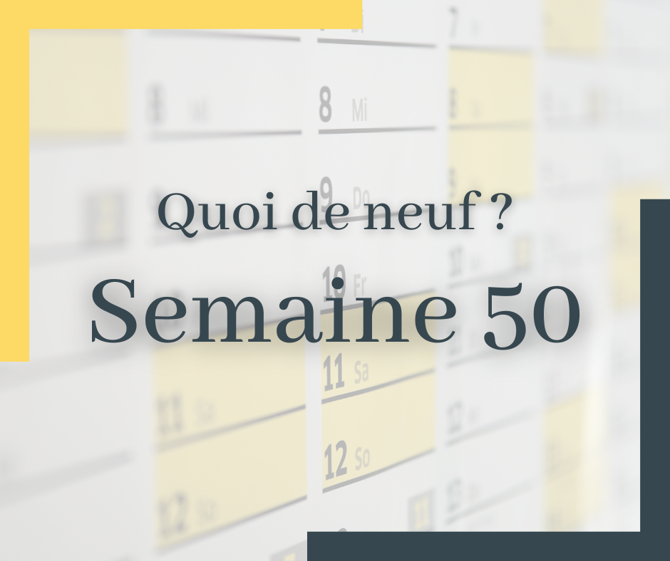 Wekey Semaine 50
